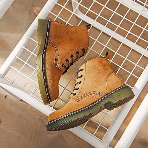 5 gris Redondas Rough Cortas Boots Mujer Women's Martin EUR 35 Botas para England c7wzOqTnC