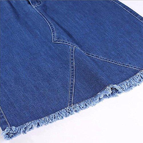 Longue Taille Dress Jeans Jupe QPSSP Hanche des Un Jupes Demi Courtes Taille Women's Blue Jupe qXqCFYw