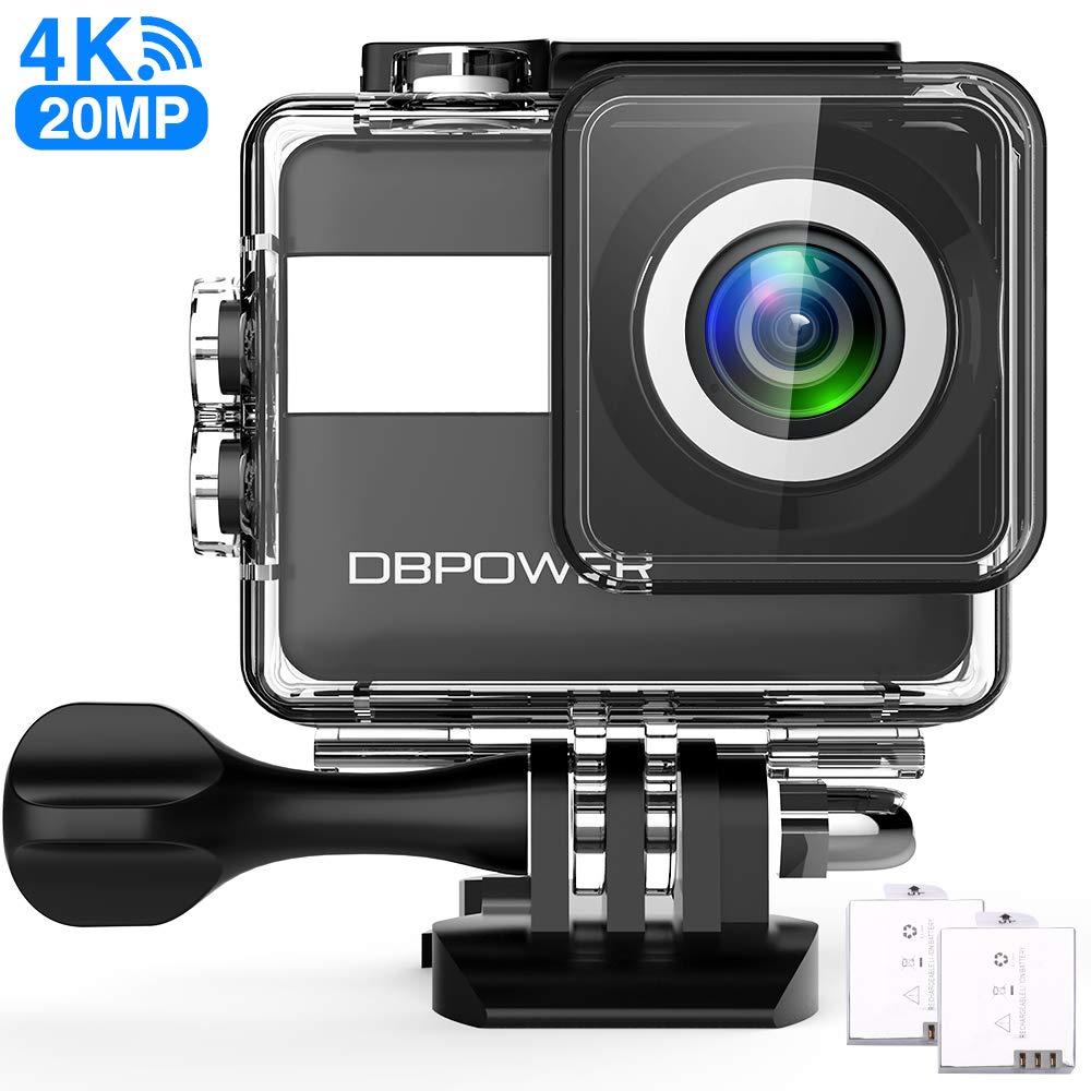 DBPOWER® 12MP 1080P HD Impermeable Cámaras deportivas con 2 la Mejora de la Batería y Gratuito Accesorios