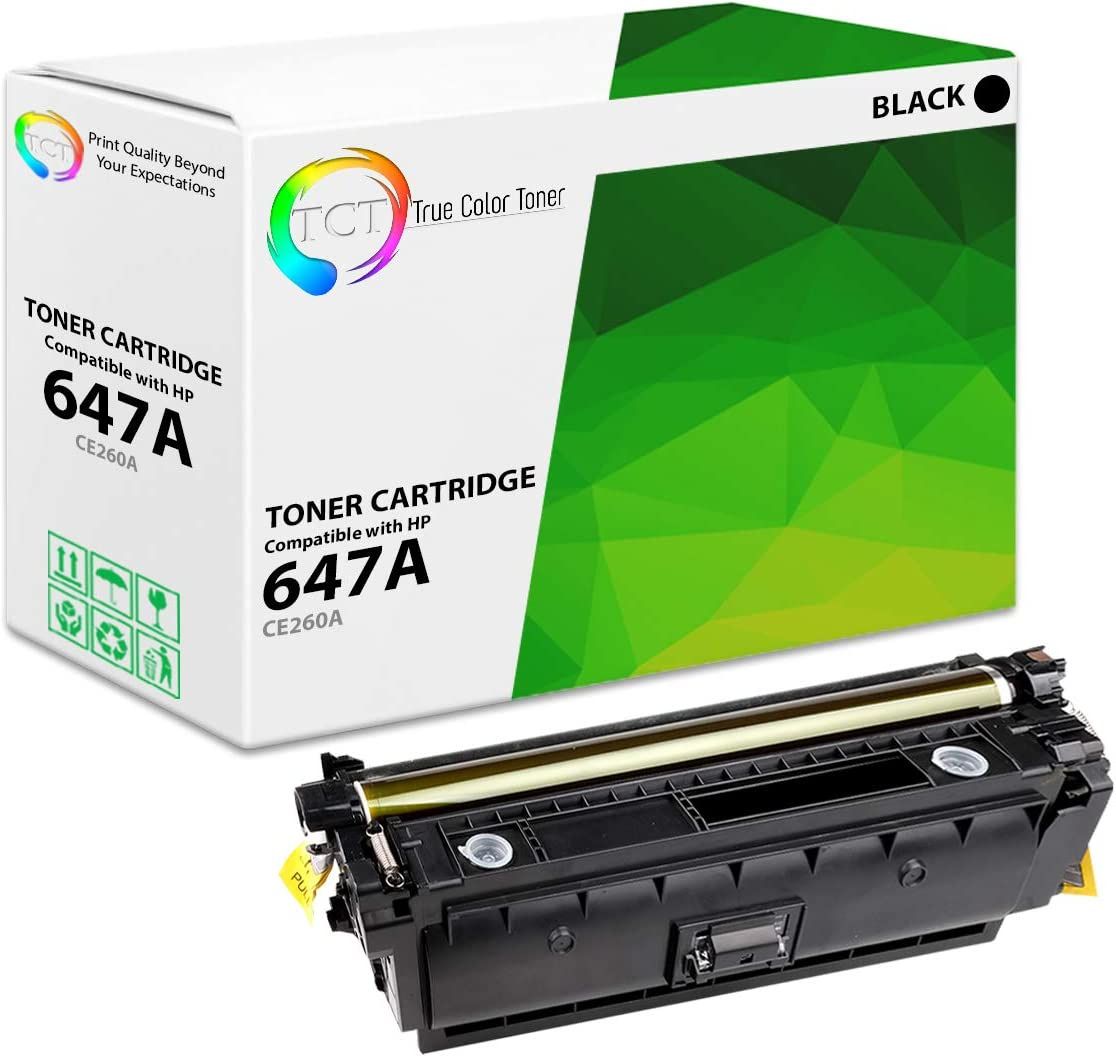 TCT Premium Compatible Toner Cartridge Replacement for HP 647A 648A CE260A CE261A CE262A CE263A Works with HP Color Laserjet CP4520 CP4025 CP4525 Printers Black, Cyan, Magenta, Yellow 4 Pack
