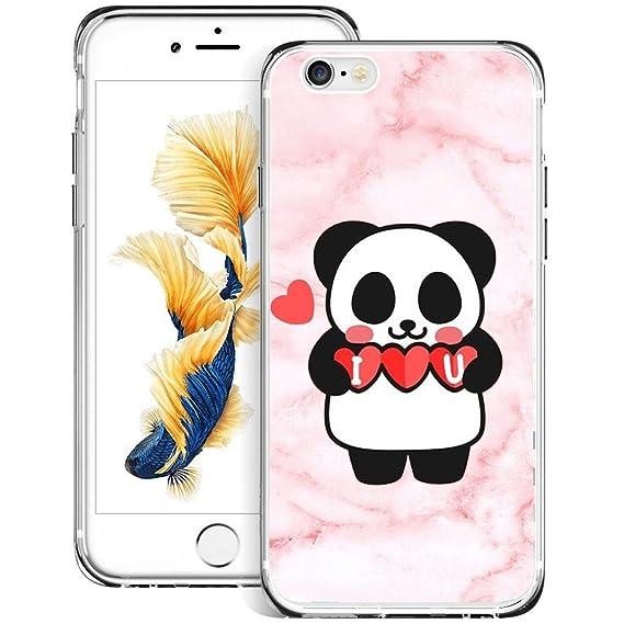 quality design 7e73b aca63 Amazon.com: KASOS Phone Case for iPhone 6/6S Case Marble Panda Cute ...