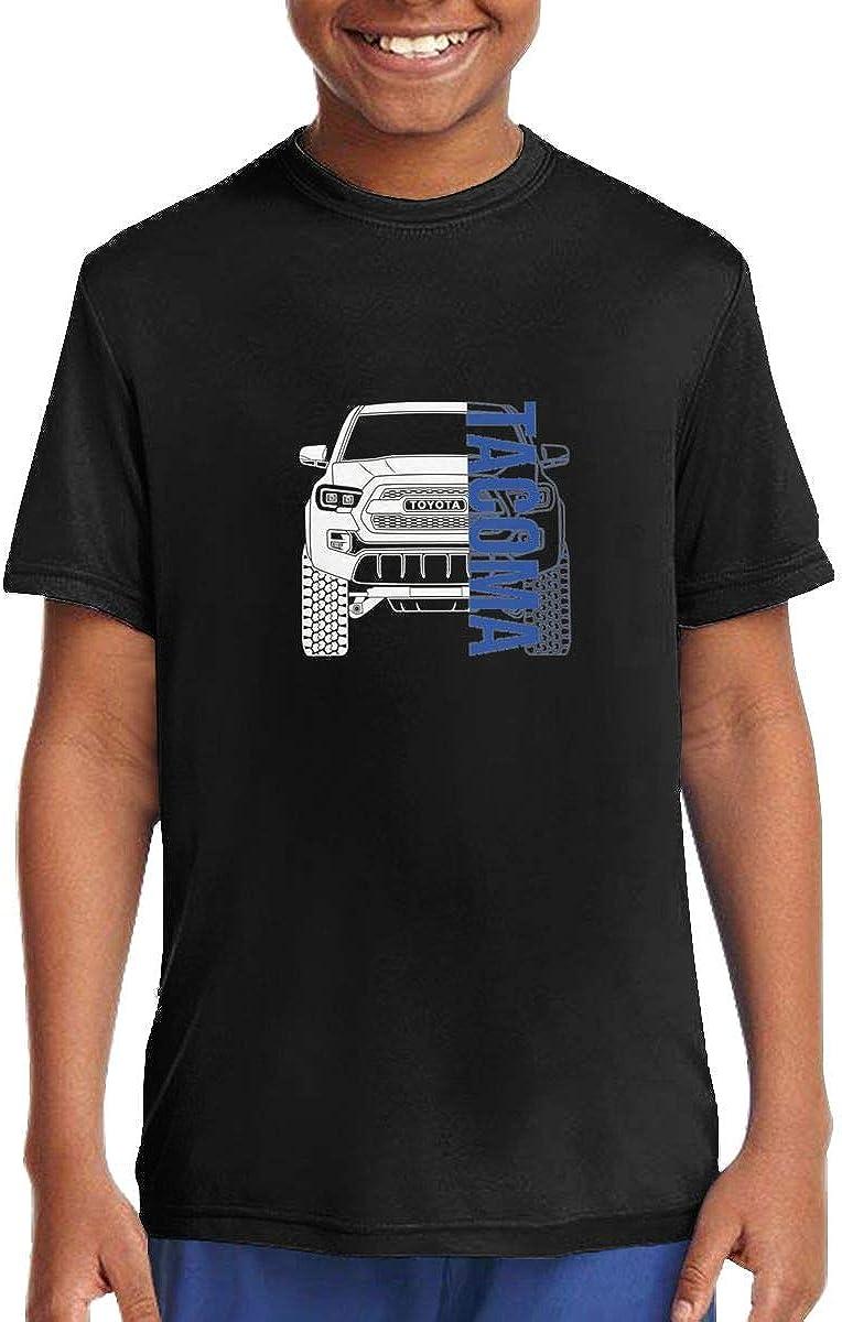 Little Boys T-Shirt Toyota Tacoma 2017 2018 2019 Short Sleeve Crewneck Cotton Tee Shirt Black