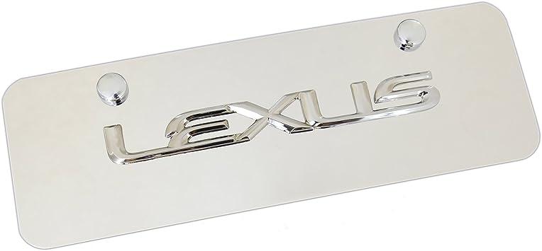 Lexus Logo Plastic License Plate Holder Frame Vinyl Decal Gold ES RX Gift