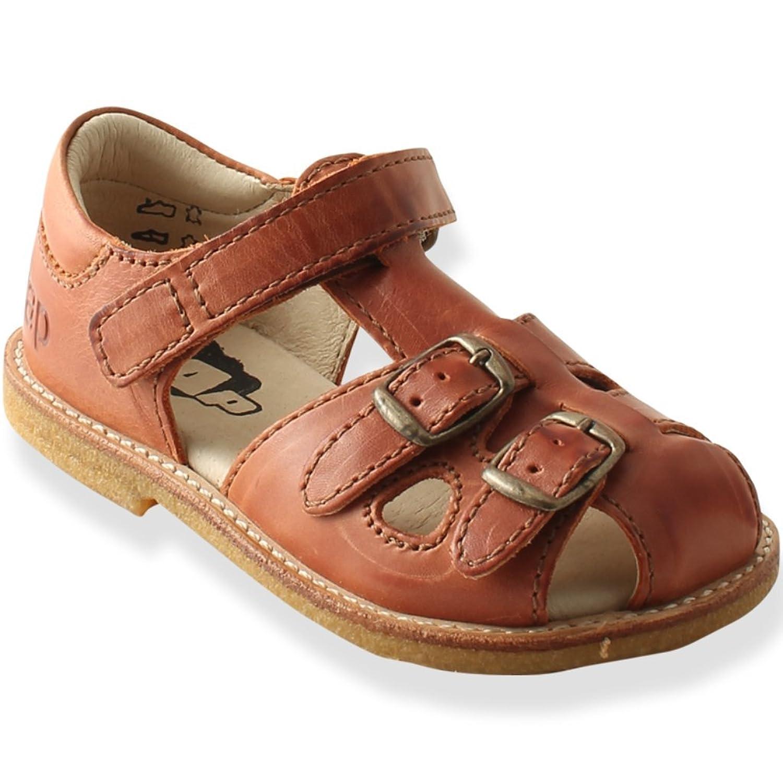 29754cd1b Arauto RAP Sandalias de piel con hebillas de cobre – coñac – niños ...