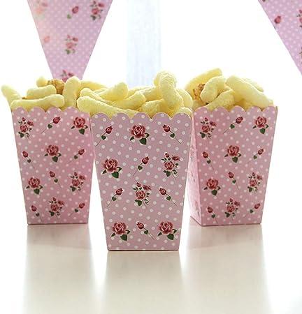 PALMFOX 12 Piezas de Palomitas para Palomitas de maíz, Cajas de Palomitas de maíz y Papel