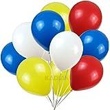 KADBANER 12 inch latex balloon white yellow red blue 100 pcs