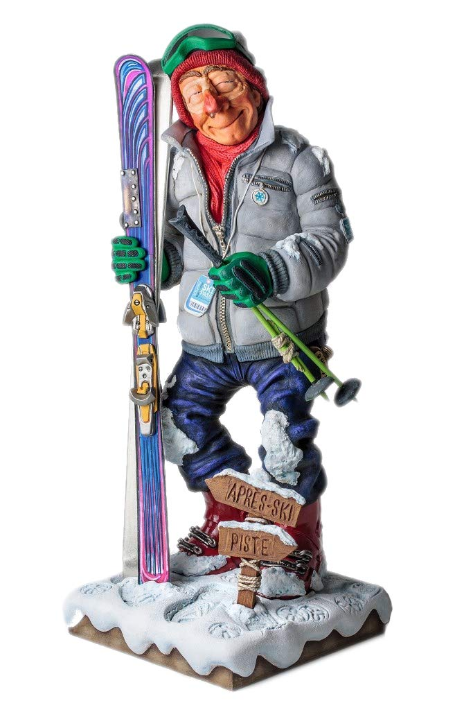 Skier Figurine Comic Art Of Guillermo Forchino 17 Inch Tall