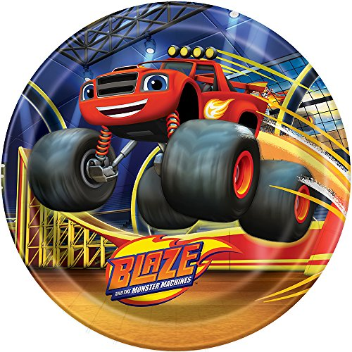 Blaze and the Monster Machines Dinner Plates (Blaze Monster Truck Costume)