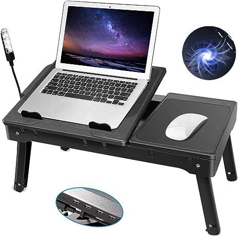 Amazon.com: Mesa de ordenador portátil para mesita de noche ...