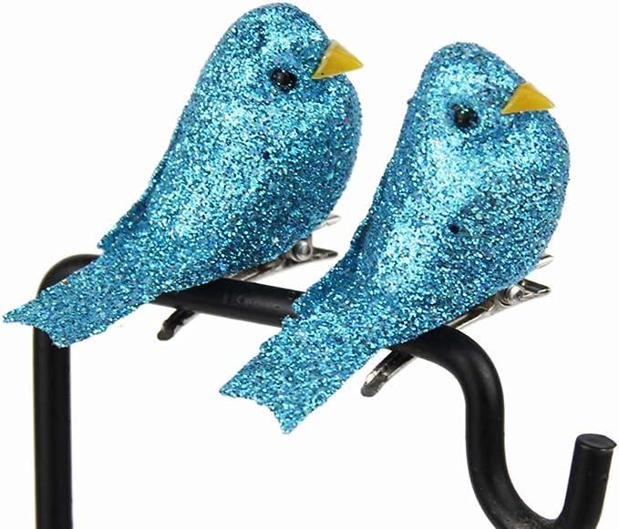 Amosfun 12 Unids Espuma Artificial Pájaros Figuras de Aves ...