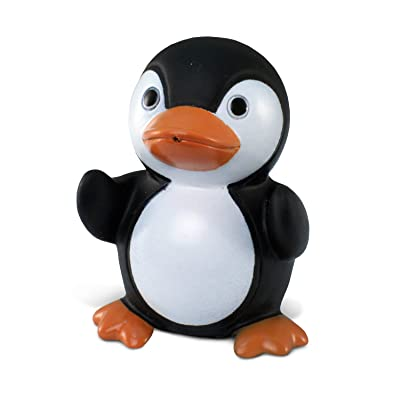 Puzzled Penguin Bath Buddy Squirter Black and White 3 Inch : Bathtub Toys : Baby