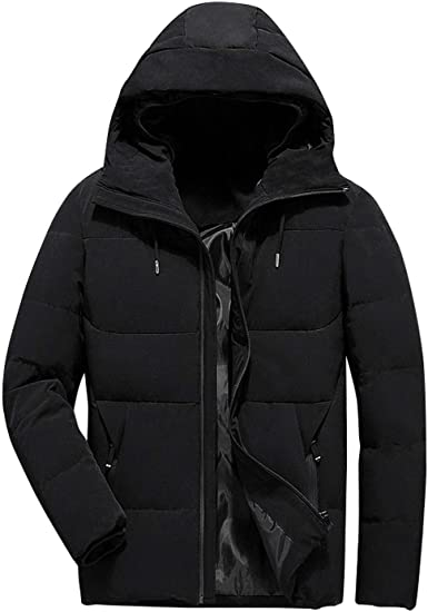 Brand Winter Jacket Men Casual Stand Collar Hooded Collar Fashion Winter Coat Men Parka Outerwear