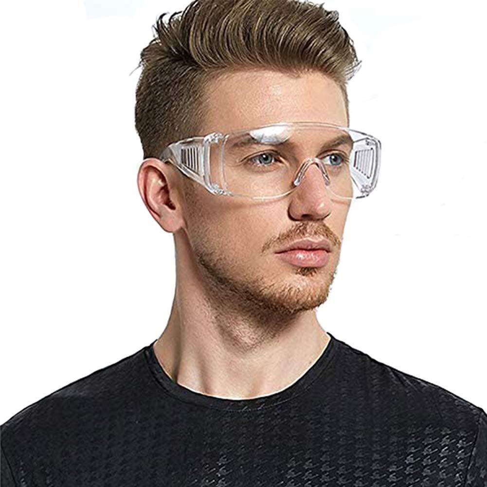 Gafas de Seguridad, Prevención Polvo Prueba de Impacto Arena a Prueba de Viento Para Anti Salpicaduras Lentes de Seguridad Antivaho (Gafas Protectoras A)