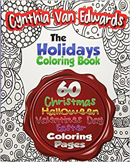 Amazon.com: The Holiday Coloring Book for Adults: The Adult Coloring ...