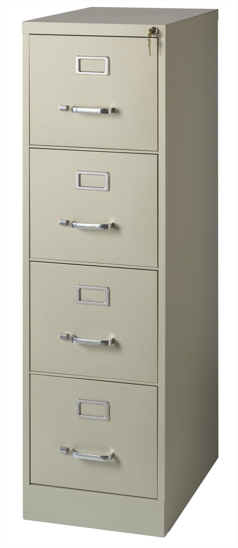 Office Dimensions Commercial 4 Drawer Letter Width Vertical File Cabinet, 22'' Deep - Putty