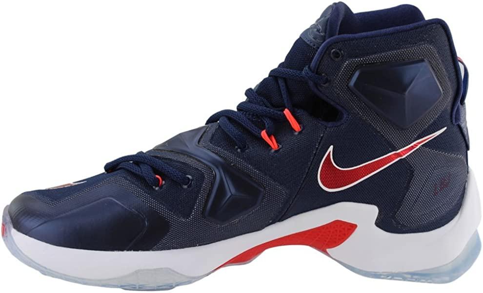 finest selection cc178 f5589 ... Nike Men s Lebron XIII Mid Navy University Red White Basketball Shoe - 11  D ...
