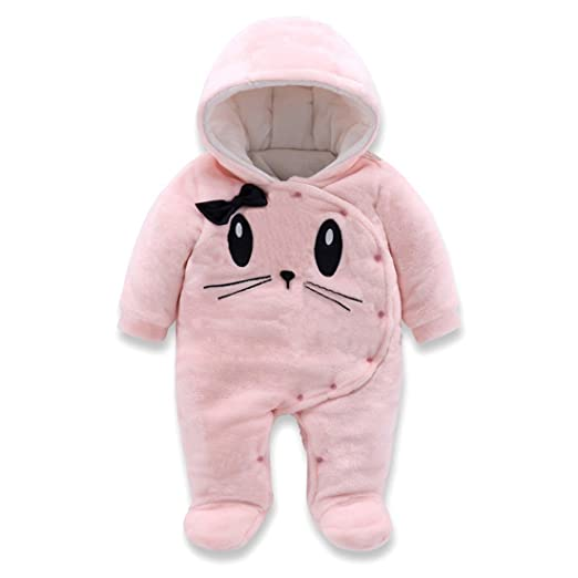 df190fe34 Amazon.com  MAOMAHREWW Baby Boy Girl Infant Winter Flannel Romper ...