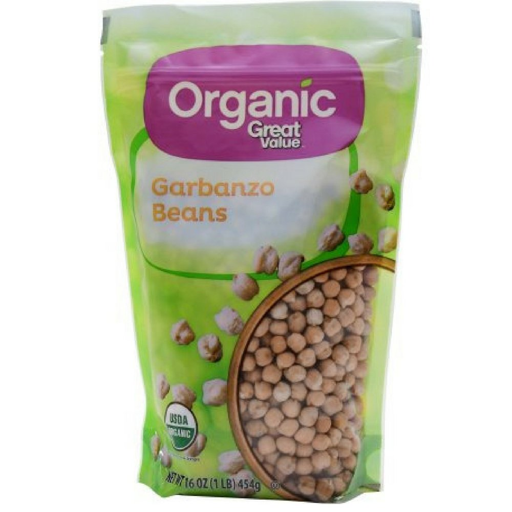 Organic Great Value Garbanzo Beans, 16 oz