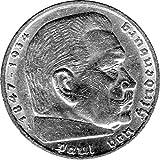 Münze Silbermünze 5 Reichsmark 1938 J Drittes Reich Paul Von