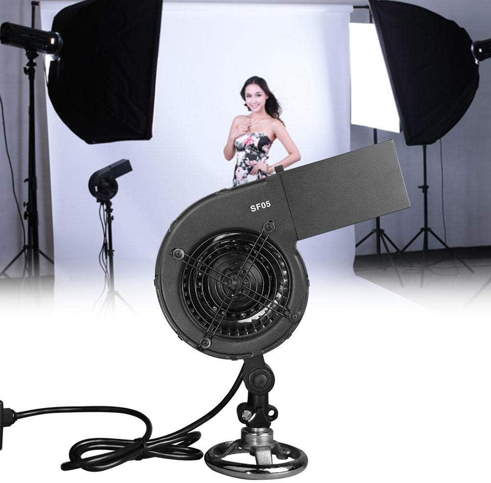 Black Mugast Studio Fan Blower,SF-05 120W 2600r//min Aluminum Alloy Portable Photography Fan Blower Stage Special Effect Blowing Machine for Fashion Portrait Photo Shooting