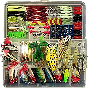 Fishing Lure Set,including Frog Lures,spoon Lures,soft Plastic Lures,popper,crankbaits,rattlin,minnow,vib Lure by Victoronlineshop