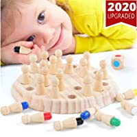 Children Wooden Memory Game Matchstick Color Learning Board Games Kids Checker Board Chess Games Brainteaser Mind for 3 and Up Intelligent Matching Toys Stick Activity for Home Educational Family Game
