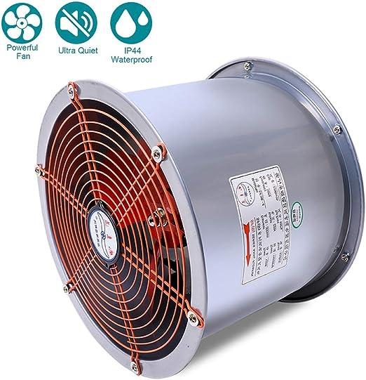 250W Inline Ventilador Extractor, Ventilador de ventilación de conducto, 450mm Escape Ventilador de ventilación de Interior, Volumen de Aire: 4500m³ / h: Amazon.es: Hogar