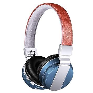 DHHDL Auricular Bluetooth Auriculares Bluetooth Auriculares Inalámbricos Auriculares Estéreo Reproductor De Mp3 Auriculares Auriculares Tarjeta SD