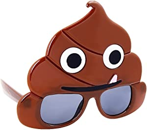 Sunstaches Emoticon Poo Sunglasses, Party Favors, UV400