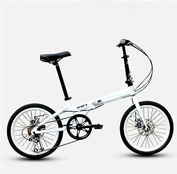 MASLEID De 20 pulgadas de aleación de bicicleta plegable de 6 velocidades de bicicleta bicicleta de