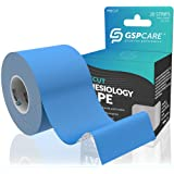 GSPCARE Kinesiology Tape for Athletic Sports and Recovery - Free Kinesiology Taping Guide (blue)