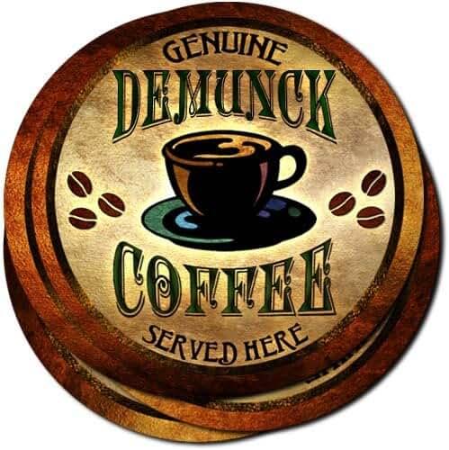 Demunck Coffee Neoprene Rubber Drink Coasters - Set of 4