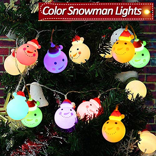 2019 New Snowman String Lights,20LED 9.8FT Waterproof Multi Color Seasonal Lights for Valentine's Day Holiday Garden Home Lawn Wedding Party Indoor Outdoor Decor Gift     from SIXONE
