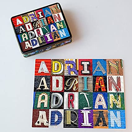 Personalized Puzzle Featuring The Name ADRIAN In Photos Of Sign Letters