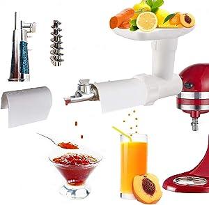 Fruit and vegetable juicer for kitchen auxiliary mixer, fresh fruit juice, jam separation, fruit and vegetable filtration, separator accessories
