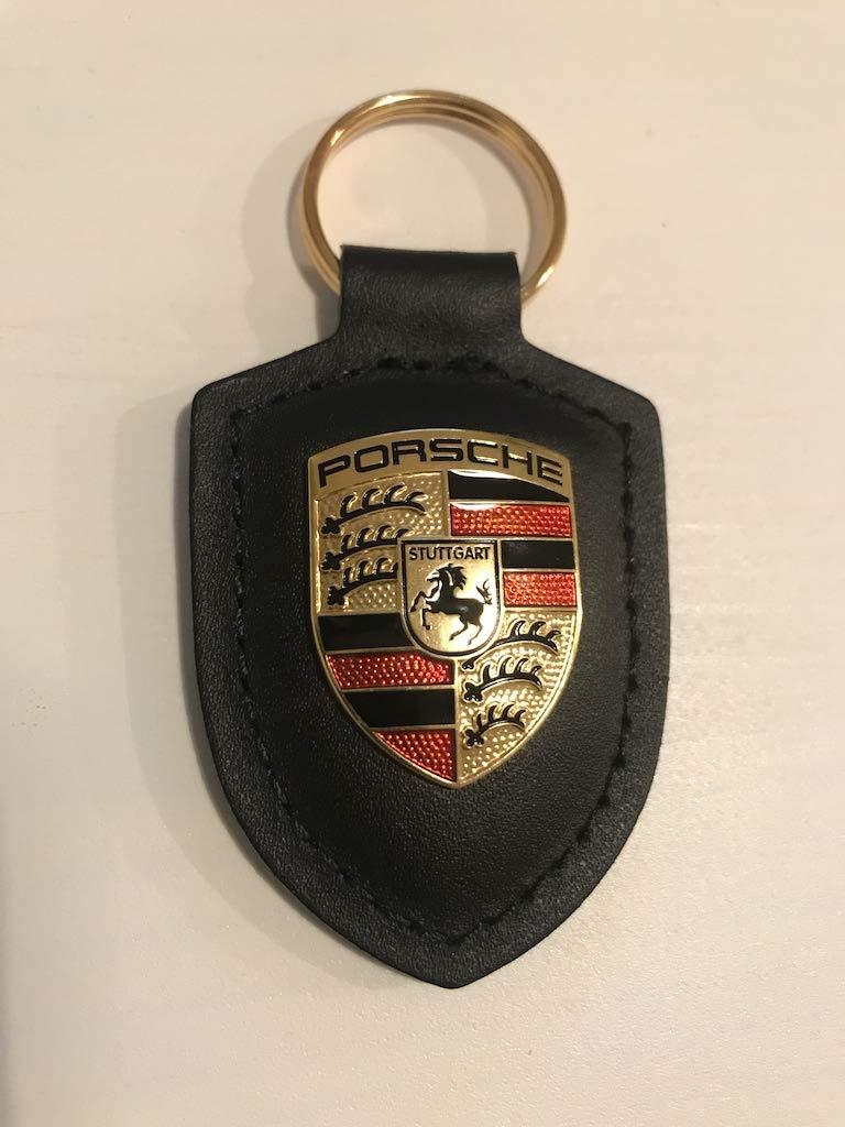 Original Porsche Crest Llavero de Cuero, Negro, WAP0500900E ...