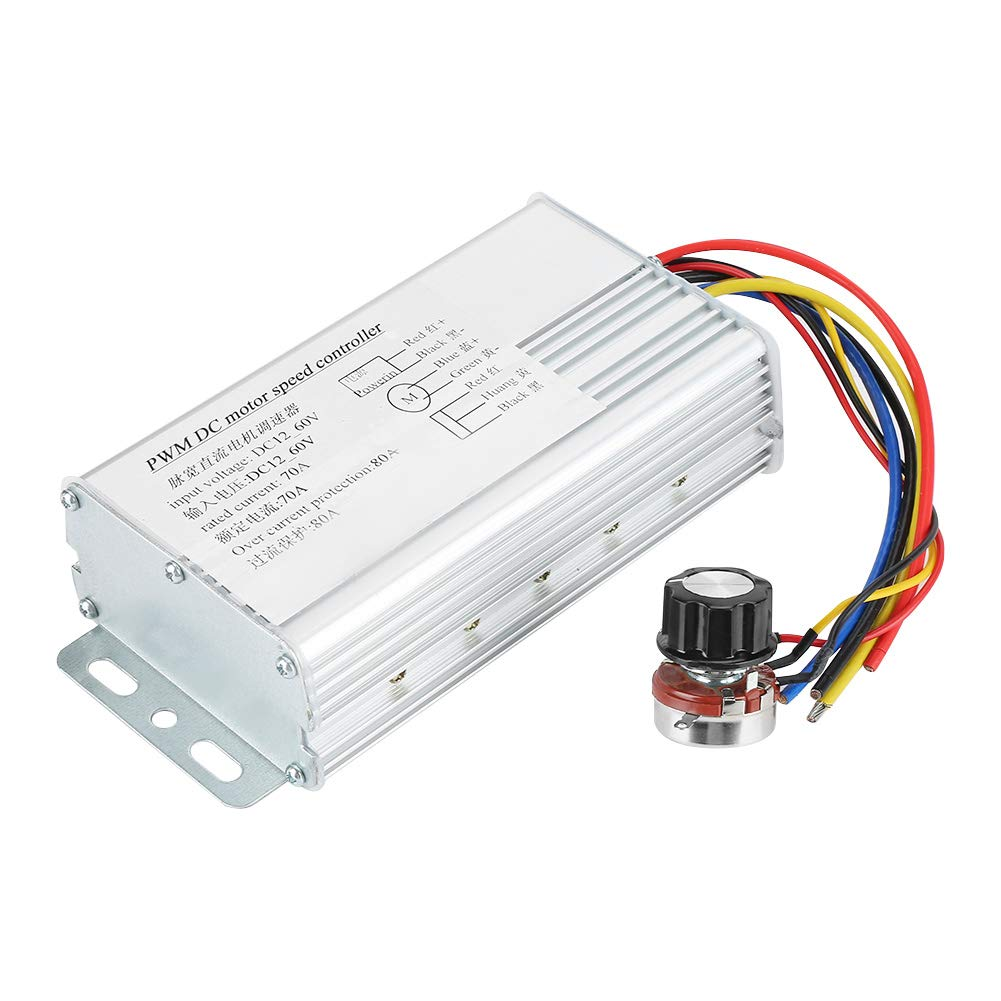 Corriente directa 10-60V 20A Motor PWM Velocidad Controlador Shell impermeable Modulador de ancho de pulso