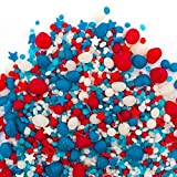 Flavored Candy Sprinkles | PATRIOTIC 8oz | Red White and Blue | Perfect for 4th Of July! | MADE IN THE USA!