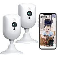 Baby Monitor, Pet Camera with Sound/Motion Detect 1080p Night Vision 2 Way Audio Video Record, Plug-in 2.4G WiFi Indoor…