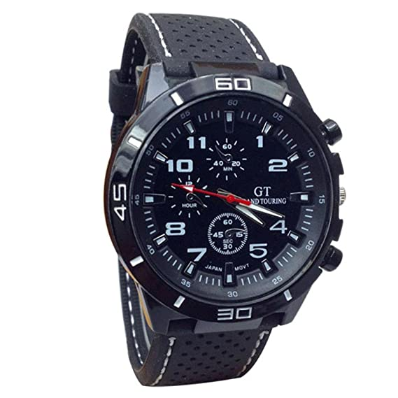 dreaman 2015 reloj de cuarzo hombres Militar relojes Sport reloj de pulsera silicona moda horas: Amazon.es: Relojes