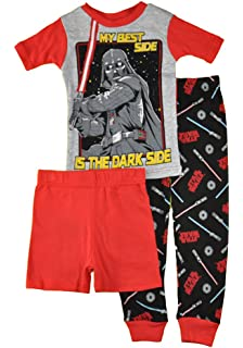 961a2e7d7 Amazon.com: Star Wars Darth Vader PJs Pajama Sleep Wear Set Boys ...