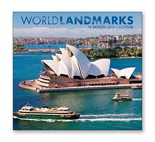 - 16 Month Wall Calendar 2018 - World Landmarks - Each Month Displays Full-Color Photograph. September 2017 - December 2018 Planning Calendar