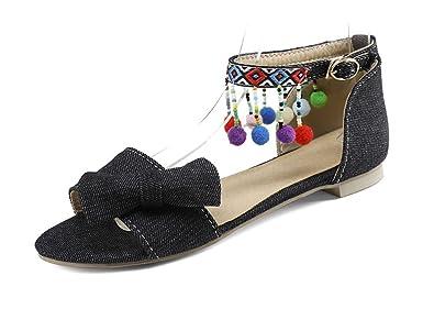 SHOWHOW  Damen Sandalen schwarz schwarz