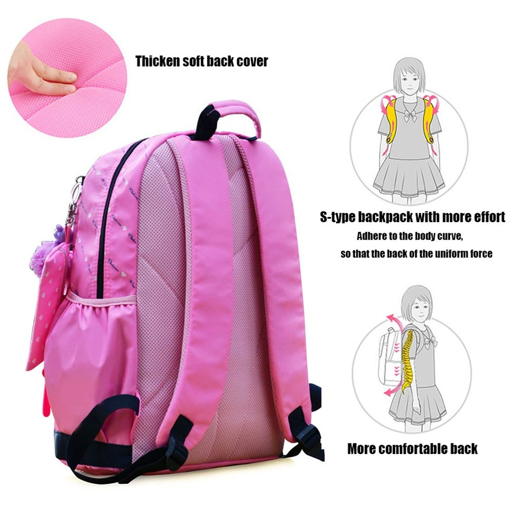 Amazon.com: DFMD Little Princess Backpack - Childrens Girls Nylon Ultra Light Student School Bag Casual Sports Travel Rucksack, Blue, Pink, Purple ...