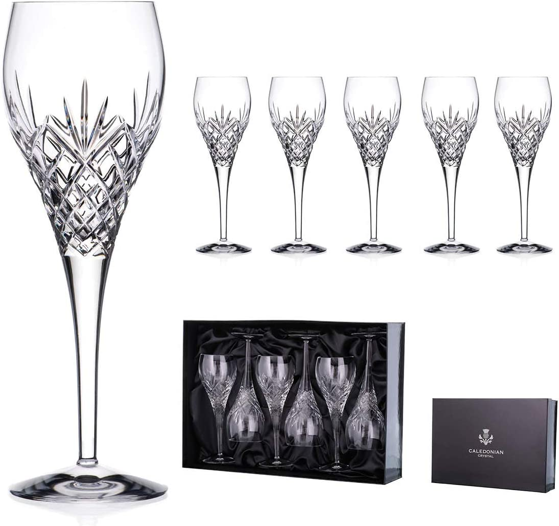 Symphony 24/% Lead Crystal red Wine Glasses Set of 6