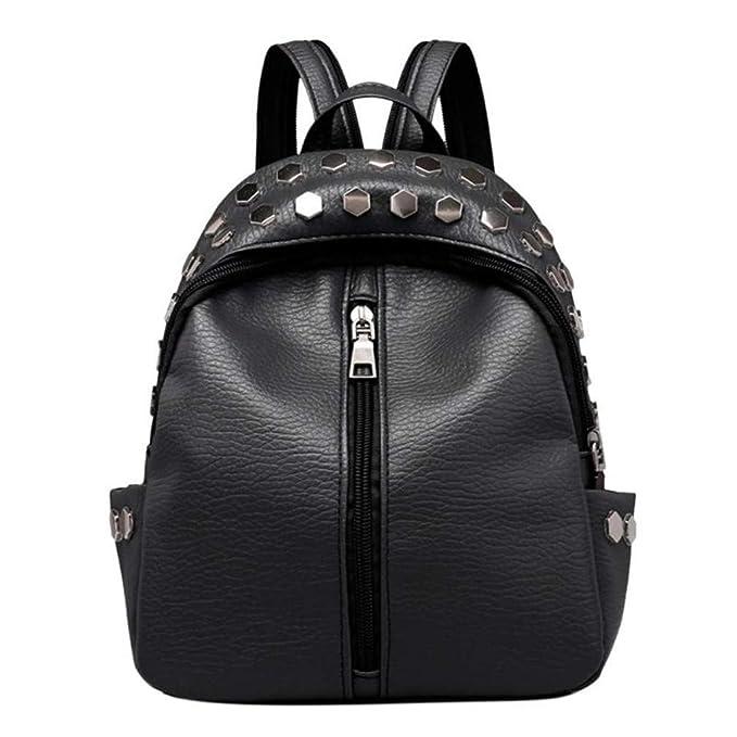 a32598afb475 Amazon.com  Small Backpacks Rivet Zipper Pu Leather Student Fashion ...