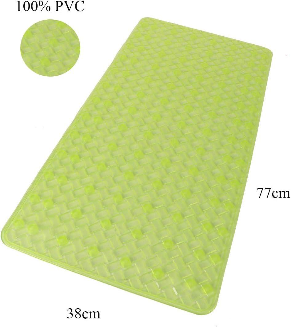 Misura 50x50 cm PVC BM 4189 Tappetino Antiscivolo da Bagno per Doccia Turchese Quadrato con Ventose