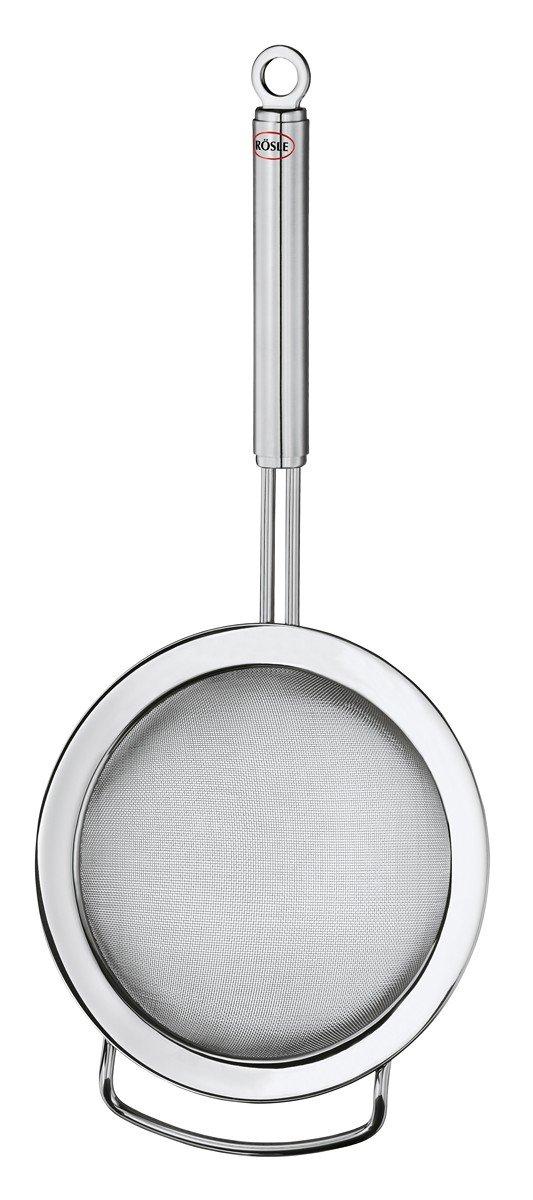 Rösle Stainless Steel Kitchen Strainer, Round Handle, Fine Mesh, 7.9-inch
