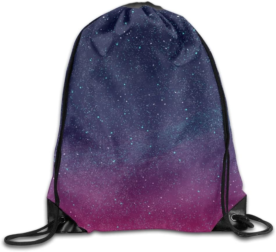 Starry Sky Drawstring Backpack Rucksack Shoulder Bags Training Gym Sack For Man And Women