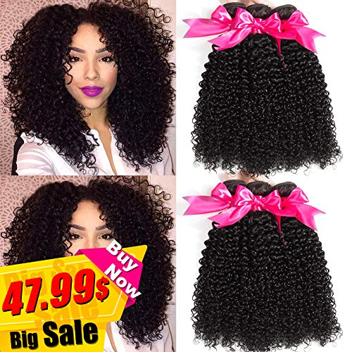 Hermosa 10A Brazilian Curly Hair 3 Bundles12 14 16,300gGood Quality Curly Weave Human Hair Bundles Unprocessed Virgin Hair